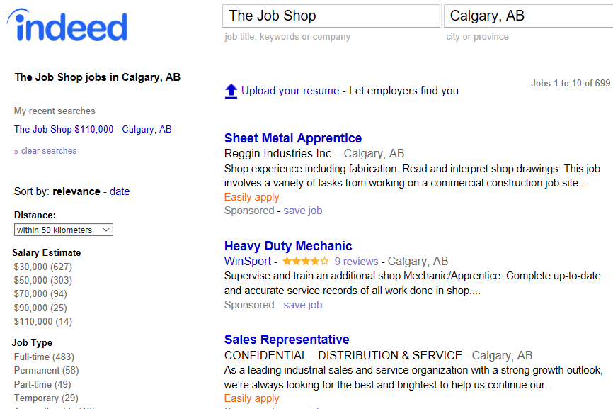 What do you think about the job market in Calgary?