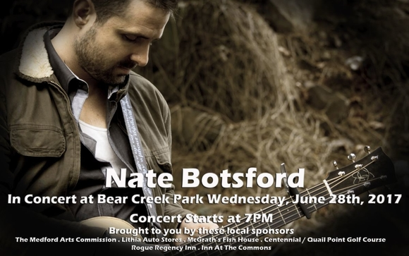 Summer Concert in the Park - Nate Botsford by Medford Parks and