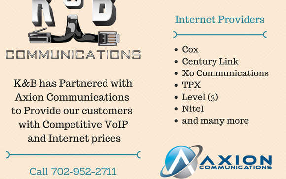 Get a quote for VoIP and Internet by K&B Communications in