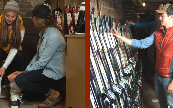 4ee50179118 Dig up the family and head to our basement for used and past-season ski gear  and clothing at crazy clearance prices. Have old ski equipment ...