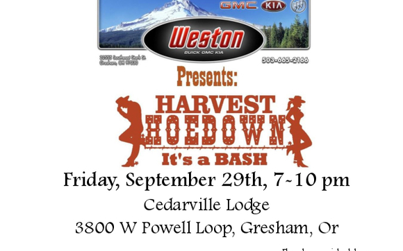 Harvest Hoedown Its A Bash By My Fathers House A Community