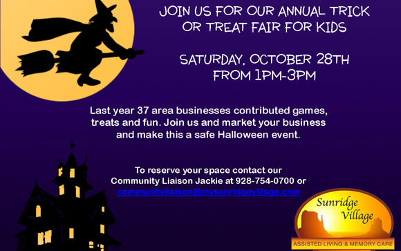 Sunridge Village Annual Trick or Treat Fair Share: by
