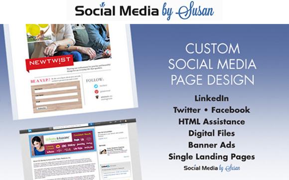 Facebook, Twitter, LinkedIn & Google custom posts by Social