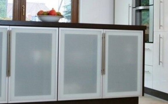 Aluminum Frame Glass Kitchen Cabinet Doors By Cronos