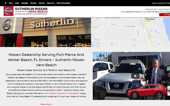 Sutherlin Nissan Vero Beach >> Holiday Bonus Cash On 11 New Nissan Models By Sutherlin