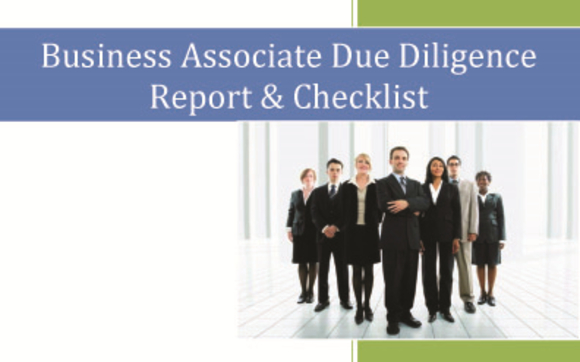 Business Associate Due Diligence Report & Checklist by HIPAA