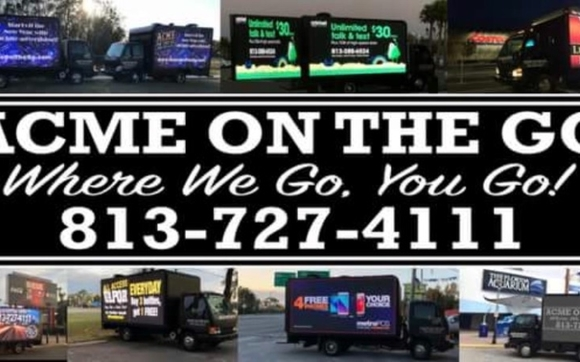 Digital Mobile advertising billboard truck by Acme On The Go