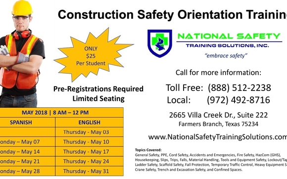 Construction Safety Orientation Training by National Safety