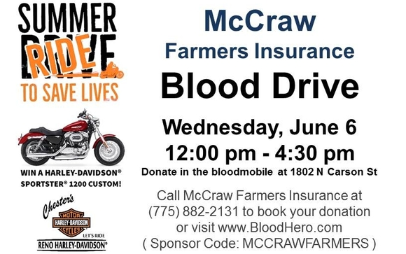 McCraw Farmers Insurance Blood Drive by McCraw Insurance Services in