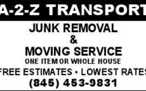 $20 OFF Moving & Cleanout Services by A-2-Z TRANSPORT MOVING