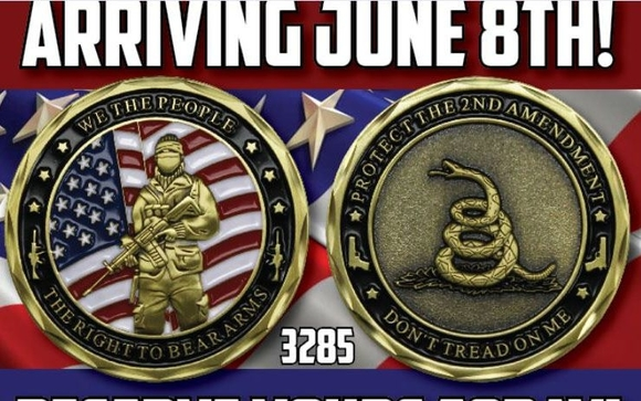 Second Amendment Challenge Coins by KROMA printing & design in