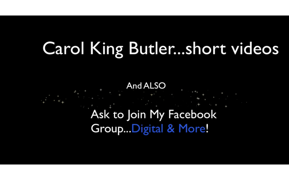 Inviting You to Join My Facebook Group by Carol King Butler