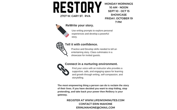ReStory Workshop at Life in 10 Minutes by Author, Speaker