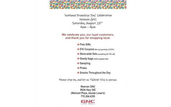 Newnan GNC Celebrates  You get the gifts! by Newnan GNC in