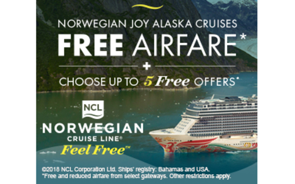 Free Airfare for Norwegian Alaskan Cruise by Cruise Planners