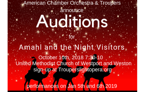 Auditions for Amahl and the Night Visitors by Troupers Light Opera