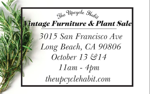 Vintage Furniture And Plant Sale By The Upcycle Habit In Long Beach