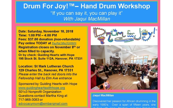 Drum For Joy by Five Pillars Health Coaching, LLC in Hanover, PA