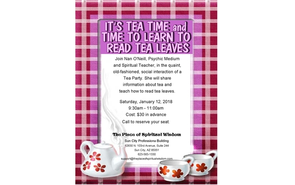 January Tea Party and Tea Leaf Reading by The Place of