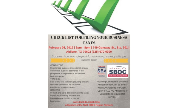 Check List for Filing Your Business Taxes by America's Small