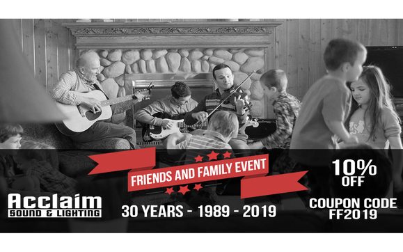 30th Anniversary Friends and Family Event by Acclaim Sound