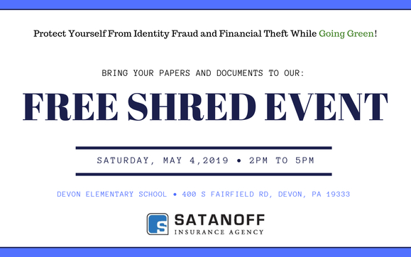 FREE Community Shredding Event! by Satanoff Insurance Agency in