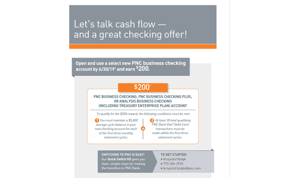 $200 Business Checking Account by PNC Bank in Chicago, IL - Alignable