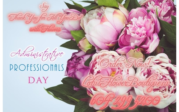 Happy Administrative Professionals Day 2019 By Lotus Flower