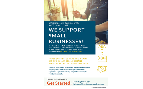 $100 Small Business Week Incentive by Paragon Payment