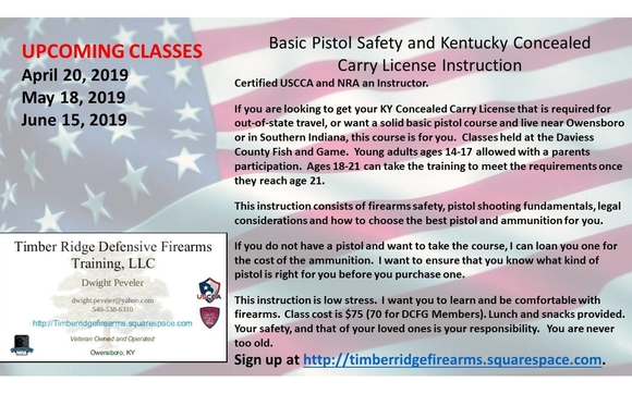 Basic Pistol Safety and Kentucky Concealed Carry Reciprocity