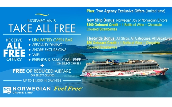 EXCLUSIVE LIMITED TIME BONUS OFFERS ON YOUR NEXT CRUISE! by