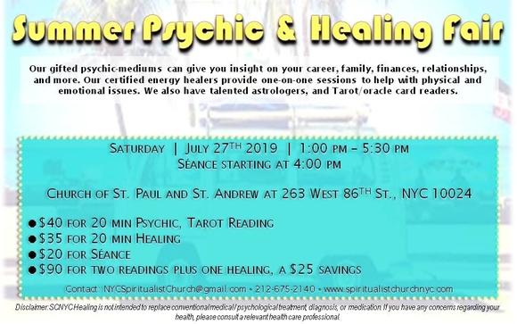 Summer Psychic & Healing Fair 2019 by Chiemi Matsumoto in Brooklyn
