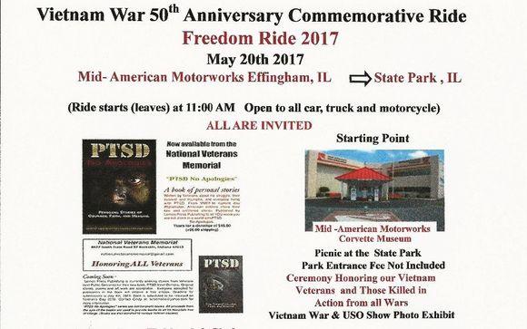 Vietnam War 50th Anniversary Commemorative Ride by Veterans