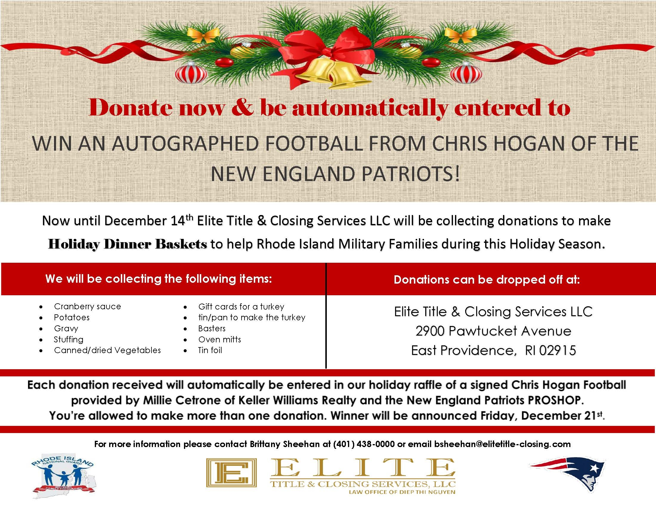 2018 RI National Guard Food Basket by Elite Title & Closing Services LLC in Riverside Area - Alignable