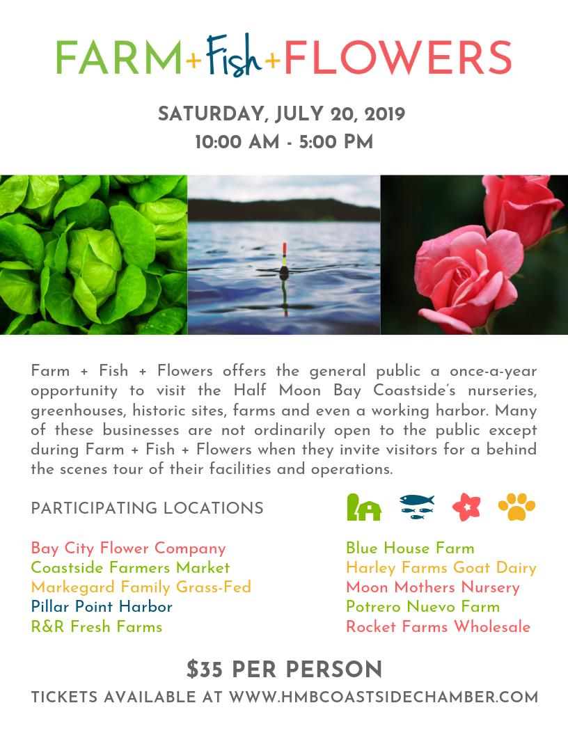 Farm + Fish + Flowers by Half Moon Bay Coastside Chamber of Commerce