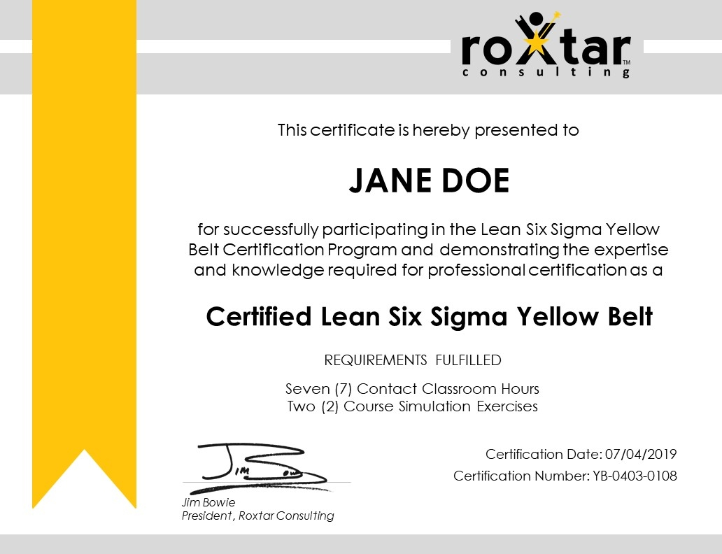 Earn Your Lean Six Sigma Certification in One Day by Strategy