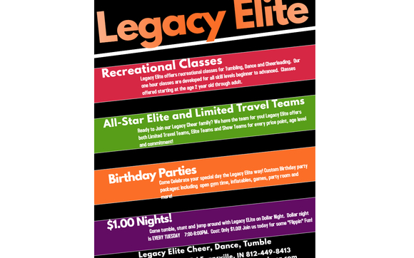 All Star Cheerleading, Recreational Classes, Birthday