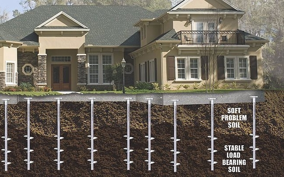 Foundation Helical Piers by Lindsley Waterproofing, Inc  in