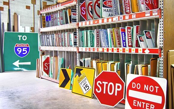 1000s of Signs in stock! Banners, Vehicle Lettering, Traffic