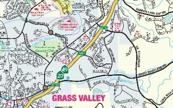 Grass Valley California Map