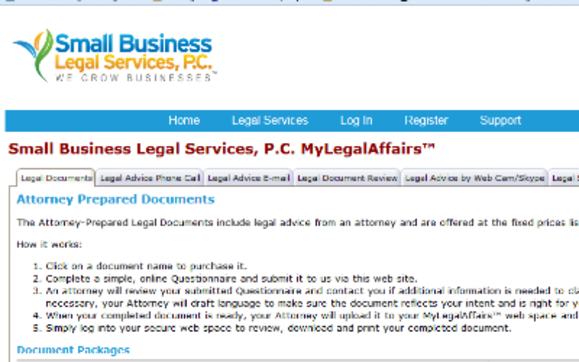 The Legal Store by Small Business Legal Services P C  in