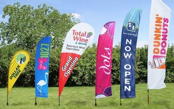 Custom Flags by National Event Marketing in Spring, TX