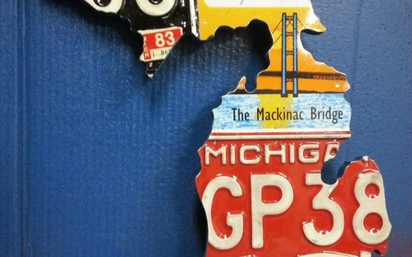 License Plate State Map.State Of Michigan License Plate Map By License Plate Heaven In