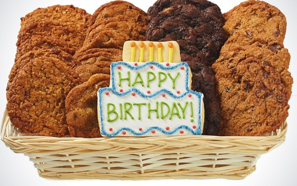 Our Birthday Cookie Delivery Gift Basket Can Be Delivered Same Day In Oakville It Has Freshly Basked Gourmet Cookies With A Hand Crafted Happy