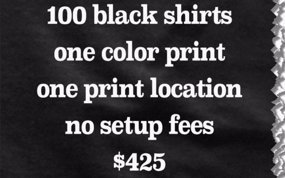 100 Gildan Black T Shirts for $425 (S-XL) by Daniel Crowley in