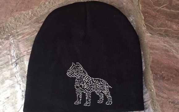 American Bull Terrier Rhinestone Beanie by California Bully