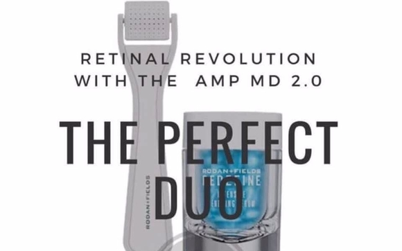 Amp MD Roller and Redefine Intensive Renewing Serum by Rodan