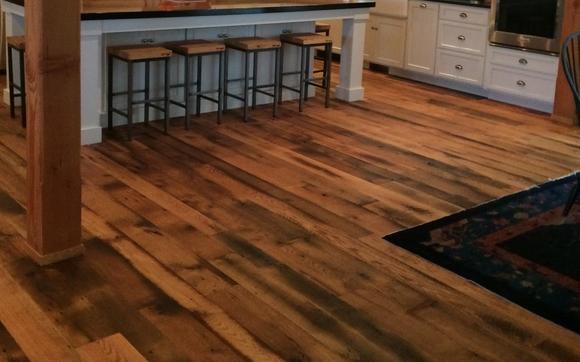 1508859005 Tllc Room Setting Distressed Antique Oak Our Reclaimed Hardwood Flooring