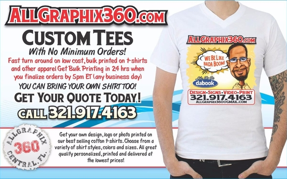 Custom T-Shirts by All Graphix 360 in Titusville, FL - Alignable