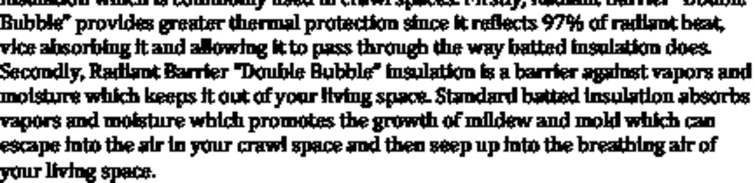Double bubble Radiant barrier by DFW Radiant Barrier & Insulation in